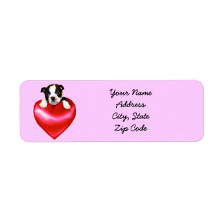 Love Boston Terrier Address Labels