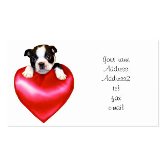 Love Boston Terrier Business Cards