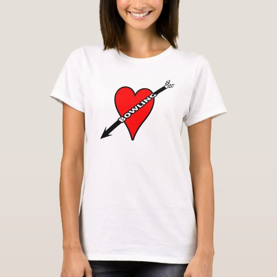 Love Bowling Heart T-Shirt