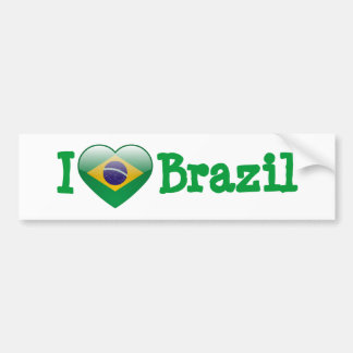 Love Brazil Bumper Sticker