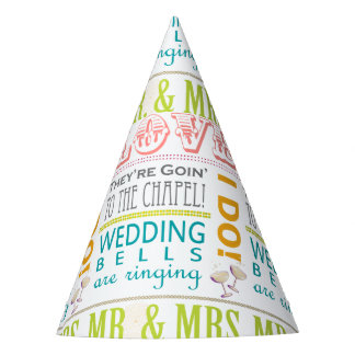 Love Bridal Shower Party Hats, I Do! Mr & Mrs Party Hat