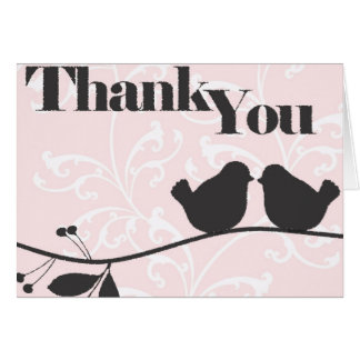 Love Brids Thank You Card