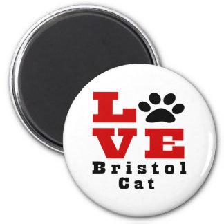 Love Bristol Cat Designes 2 Inch Round Magnet