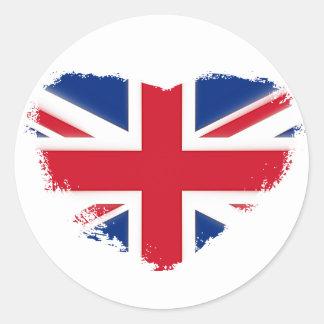 Love Britain Classic Round Sticker