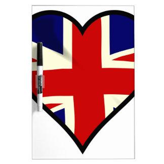 Love Britain Dry Erase White Board