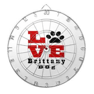 Love Brittany Dog Designes Dartboards