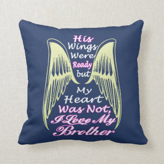 Love Brother Throw Pillow