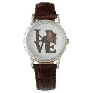 LOVE Brown Chocolate Drop Valentine's Day Watch