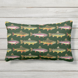Love Brown Trout Fishing Lumbar Pillow