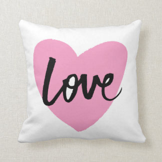 Love - Brush lettering Throw Cushion