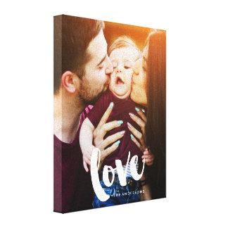 """Love"" Brush Script Photo Canvas Print"