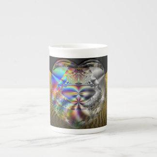Love Bubbles Fractal  Bone China Mug