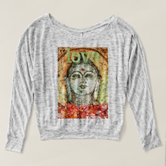 Love Buddha Watercolor Art Flowy Shirt