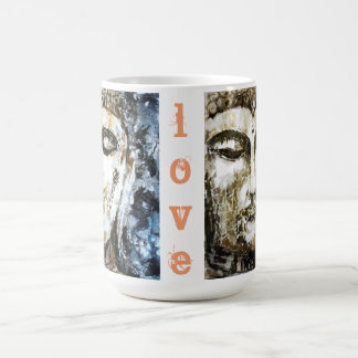 Love Buddha Watercolor Art Jumbo Mug