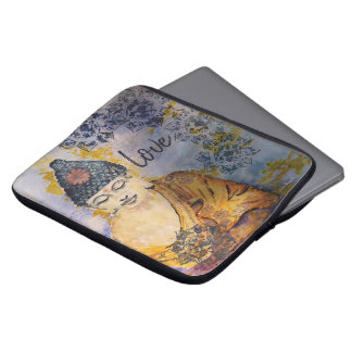 Love Buddha Watercolor Laptop Sleeve