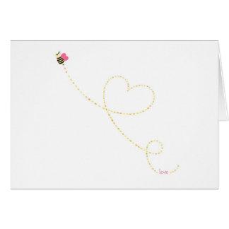 """""""Love Bug"""" Bee Greeting Card"""