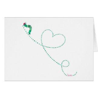 """Love Bug"" Caterpillar Greeting Card"