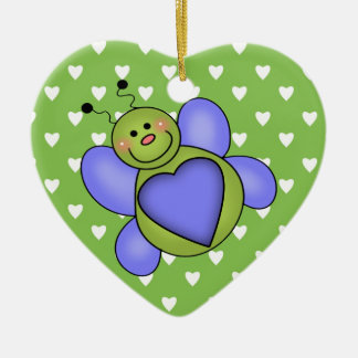 Love Bug Ceramic Ornament