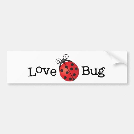 Love Bug - Ladybug Bumper Stickers