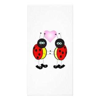 Love Bug Ladybug Cartoon Picture Card