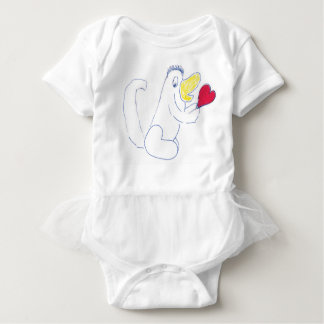 Love Bug Tutu Babies Bodysuit