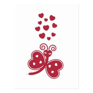 Love Bug Valentine Postcard © 2012 M. Martz
