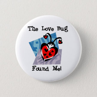 Love Bug Valentine Tshirts and Gifts 2 Inch Round Button