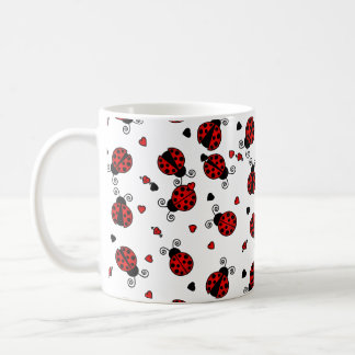 Love Bugs Red Ladybugs Coffee Mug