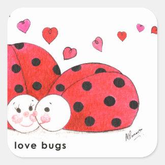 Love Bugs Square Sticker