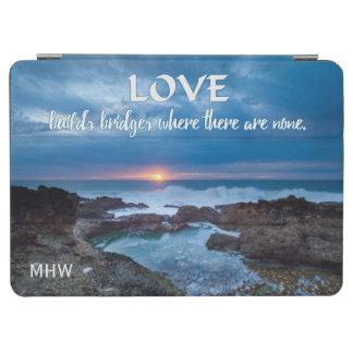 Love Builds Bridges custom monogram device covers iPad Air Cover