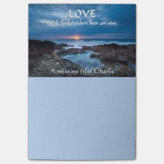 Love Builds Bridges custom Post-It notes