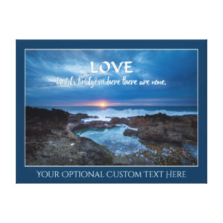 Love Builds Bridges custom text canvas print