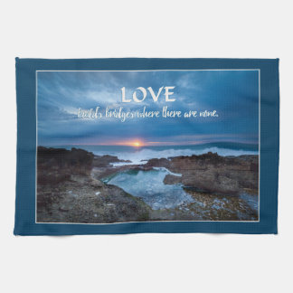 Love Builds Bridges hand towel
