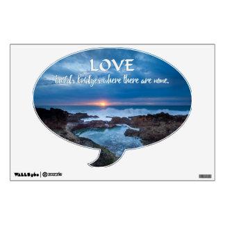 Love Builds Bridges wall decals