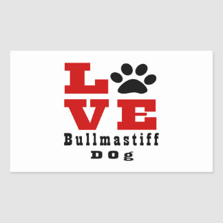 Love Bullmastiff Dog Designes