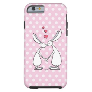Love bunnies - pink tough iPhone 6 case