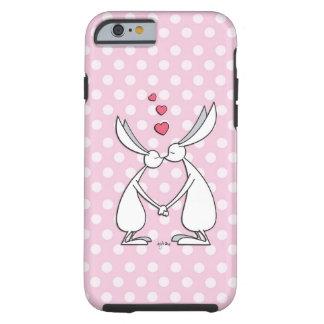 Love bunnies - pink tough iPhone 6 case