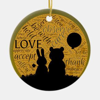 Love bunny ceramic ornament