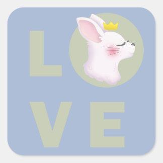 Love Bunny Square Sticker