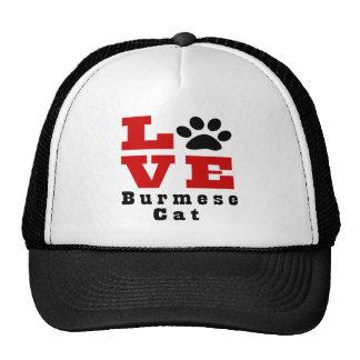 Love Burmese Cat Designes Trucker Hat