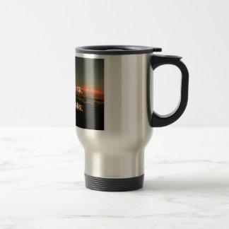 love burns> sunshine, Stainless Steel 15oz 15 Oz Stainless Steel Travel Mug