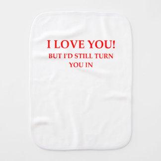 LOVE BURP CLOTH