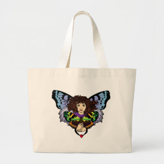 Love Butterfly Faerie Tote Jumbo Tote Bag