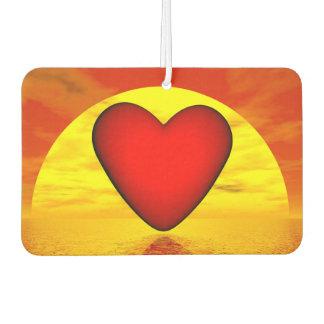 Love by sunset - 3D render Air Freshener