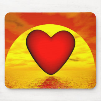 Love by sunset - 3D render Mouse Pad