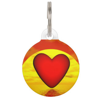 Love by sunset - 3D render Pet ID Tag