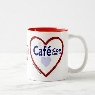 Love Café Con Leche - Two-Tone Mug