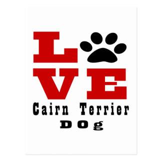 Love Cairn Terrier Dog Designes Postcard