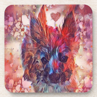 Love Cairns Puppy Plastic Coasters w Cork Back (6)