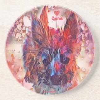 Love Cairns Puppy Sandstone Coaster